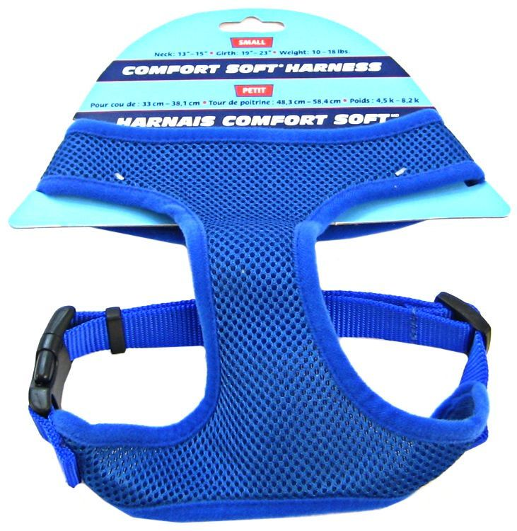 "Coastal Pet Comfort Soft Adjustable Harness - Blue Small - 3/4"" Width (Girth Size 19""-23"") - All Pets Store"