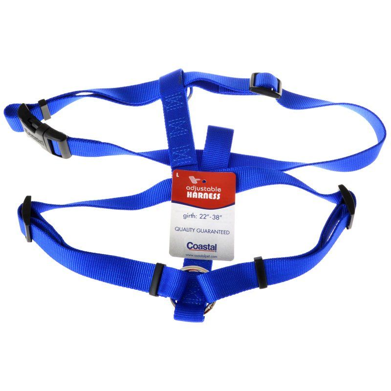 "Tuff Collar Nylon Adjustable Harness - Blue Large (Girth Size 22""-38"") - All Pets Store"
