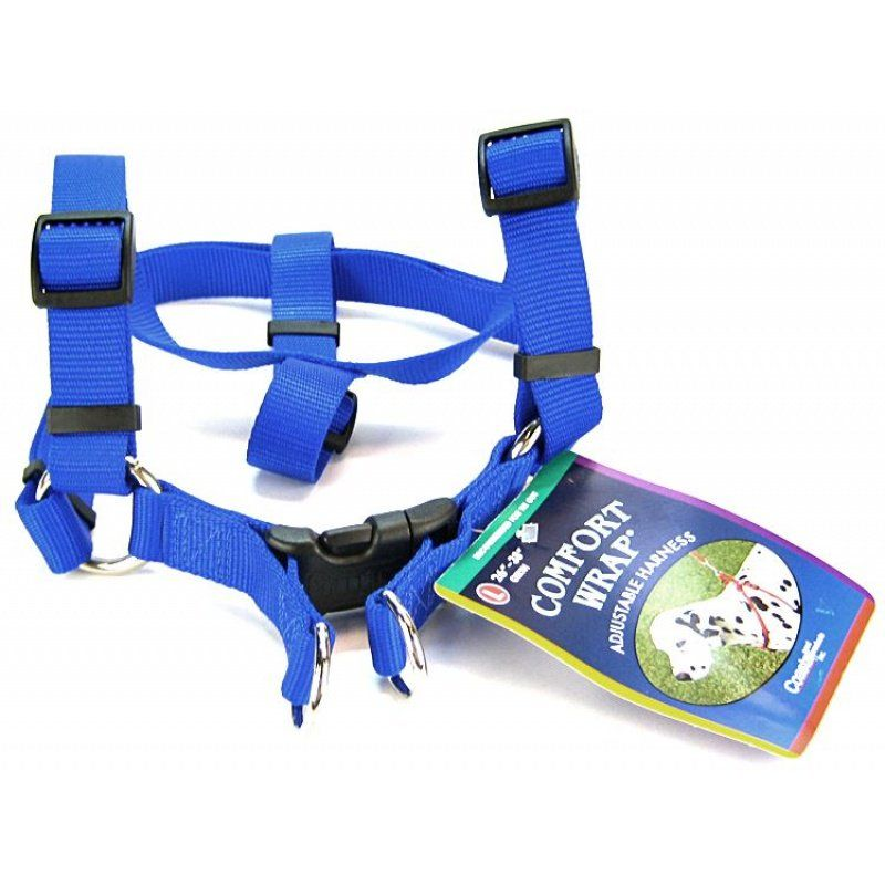 Tuff Collar Comfort Wrap Nylon Adjustable Harness - Blue Large (Girth Size 26