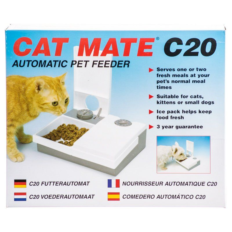Cat Mate Automatic Pet Feeder 2-Bowl 48 Hour C20 Feeder - All Pets Store