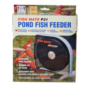 Fish Mate Pond Fish Feeder P21 Holds 21 Days of Food - All Pets Store