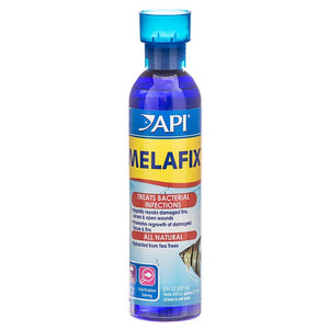 API MelaFix Antibacterial Fish Remedy 8 oz Bottle (Treats 474 Gallons) - All Pets Store