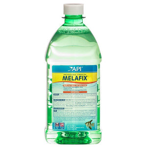 API MelaFix Antibacterial Fish Remedy 64 oz Bottle (Treats 18,900 Gallons) - All Pets Store