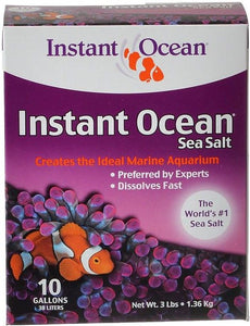Instant Ocean Sea Salt for Marine Aquariums, Nitrate & Phosphate-Free 3 lbs (Treats 10 Gallons) - All Pets Store