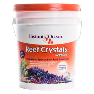 Instant Ocean Reef Crystals Reef Salt for Reef Aquariums 46 lbs (Treats 160 Gallons) - All Pets Store