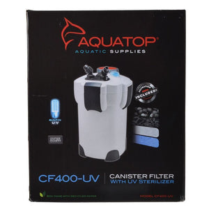 Aquatop UV Canister Filter CF Series CF400-UV - 9 Watts - 370 GPH - All Pets Store