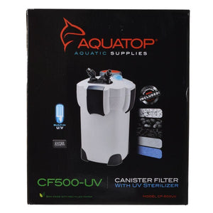 Aquatop UV Canister Filter CF Series CF500-UV - 9 Watts - 525 GPH - All Pets Store