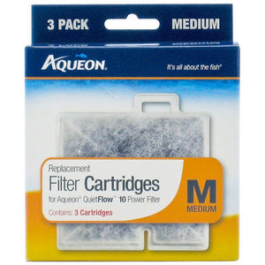 Aqueon QuietFlow Replacement Filter Cartridge Medium (3 Pack) - All Pets Store