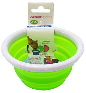 Bamboo Silicone Travel Bowl - Assorted 1-Cup Tray - All Pets Store