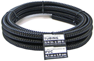 "Beckett Pond Corrugated Tubing - Black 20' Long x .75"" Diameter - All Pets Store"