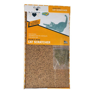 "OurPets Cosmic Catnip Cosmic Double Wide Cardboard Scratching Post 20""L x 9.5""W x 2""H"
