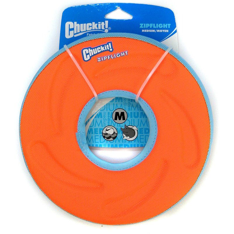"Chuckit Zipflight Amphibious Flying Ring - Assorted Small - 6"" Diameter (1 Pack)"