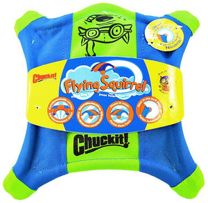 "Chuckit Flying Squirrel Toss Toy Medium - 10"" Long x 10"" Wide - All Pets Store"