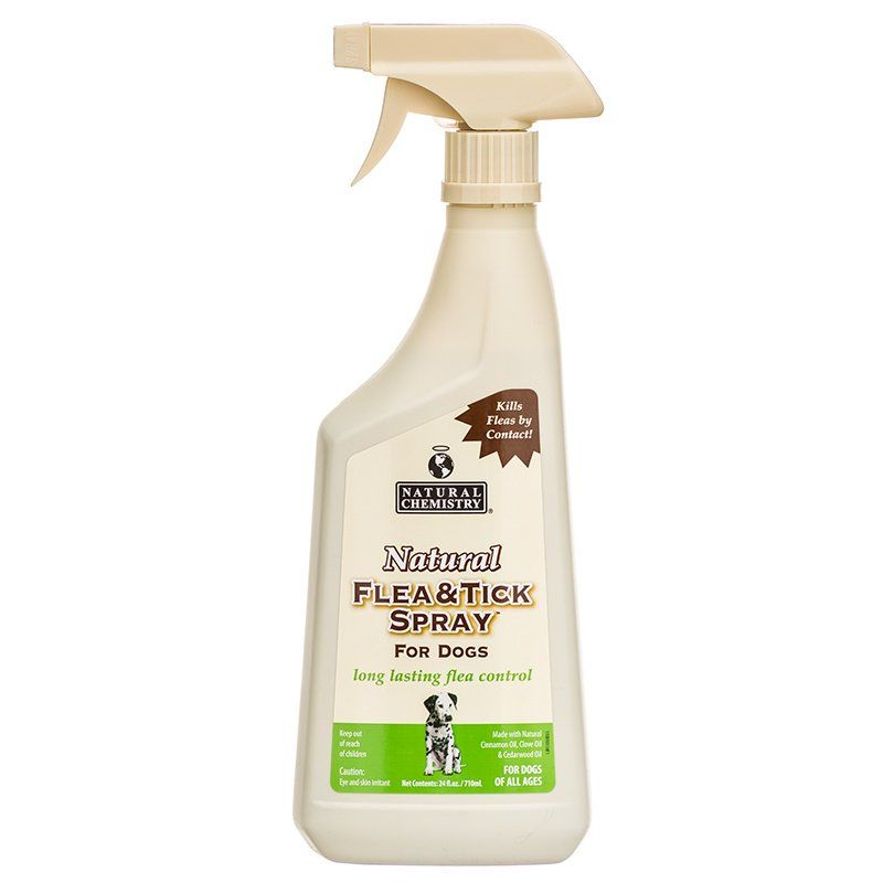 Natural Chemistry Natural Flea & Tick Spray for Dogs 24 oz - All Pets Store