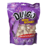 "Dingo Meat in the Middle Rawhide Chew Bones Mini - 2.5"" (35 Pack) - All Pets Store"