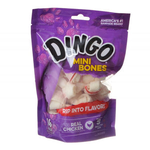 "Dingo Meat in the Middle Rawhide Chew Bones Mini - 2.5"" (14 Pack) - All Pets Store"