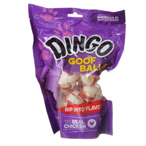 "Dingo Goof Balls Chicken & Rawhide Chew Small - 1""(15 Pack) - All Pets Store"