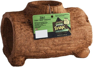 Ecotrition 3 in 1 Edible Snack Shak Activity Log Large Log (Guinea Pig & Rabbit) - All Pets Store