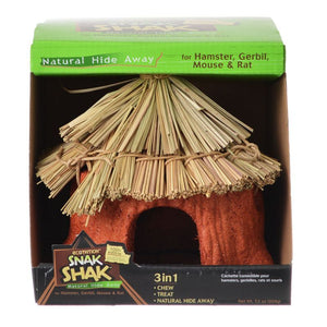 "Ecotrition 100% Edible Snak Shak Natural Hide Away Small (5"" Diameter x 7"" Tall x 1.75"" Opening) - All Pets Store"