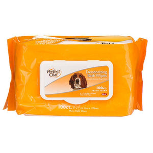Perfect Coat Deodorizing Bath Wipes for Dogs 100 Pack - All Pets Store