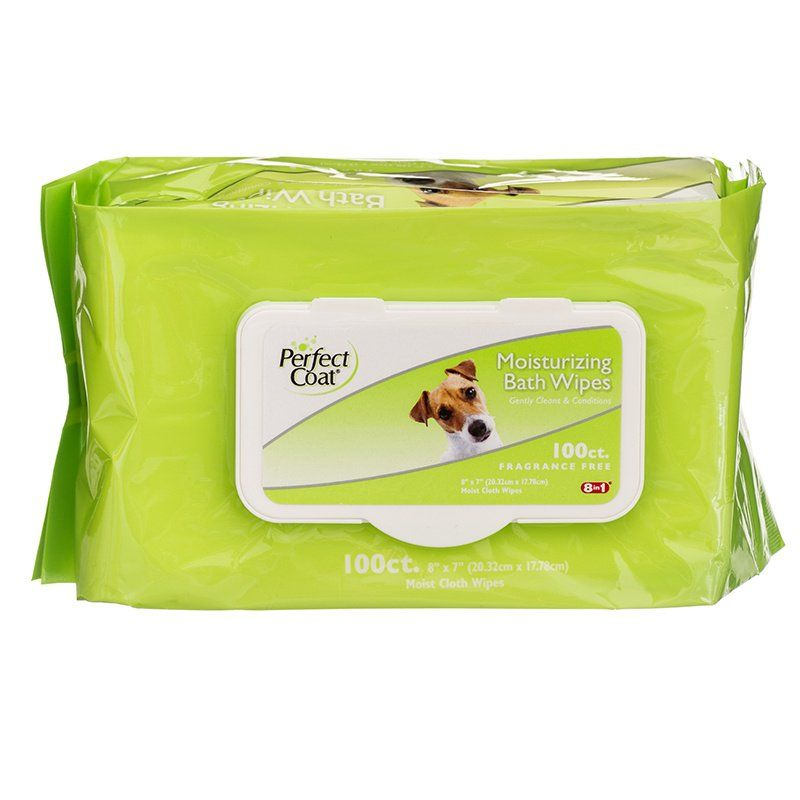 Perfect Coat Moisturizing Bath Wipes 100 Pack
