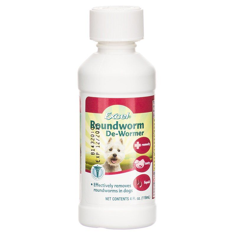 Excel Roundworm De-Wormer Liquid for Dogs 4 oz