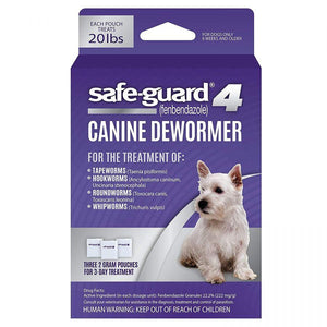 8 in 1 Pet Products Safe-Guard 4 Canine Dewormer Medium Dog - (3 x 2 Grams) - All Pets Store