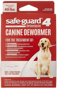 8 in 1 Pet Products Safe-Guard 4 Canine Dewormer Large Dog - (3 x 4 Grams) - All Pets Store