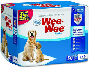 "Four Paws Wee Wee Pads Original 50 Pack (22"" Long x 23"" Wide) - All Pets Store"