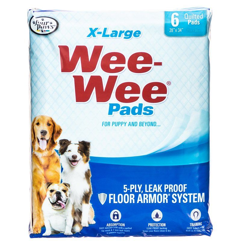 Four Paws X-Large Wee Wee Pads 6 Pack (28