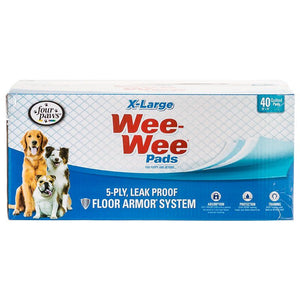 "Four Paws X-Large Wee Wee Pads 40 Pack (28"" Long x 30"" Wide) - All Pets Store"