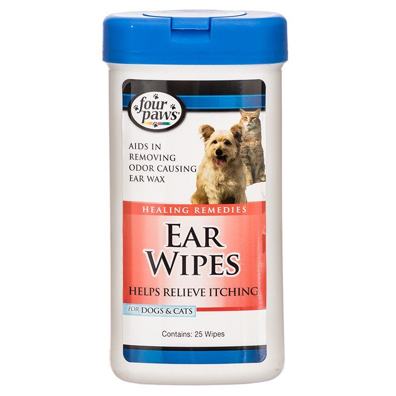 Four Paws Ear Wipes for Dogs & Cats 25 Wipes - All Pets Store