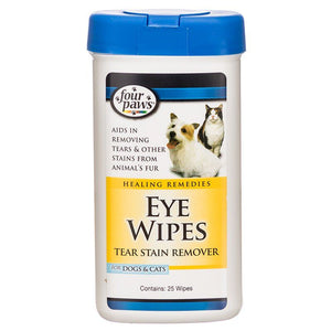 Four Paws Eye Wipes for Dogs & Cats 25 Wipes - All Pets Store