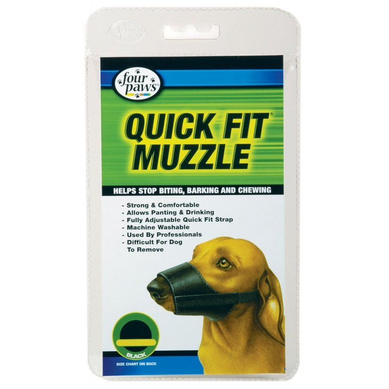 "Four Paws Quick Fit Muzzle Size 0 - Fits 4.5"" Snout"