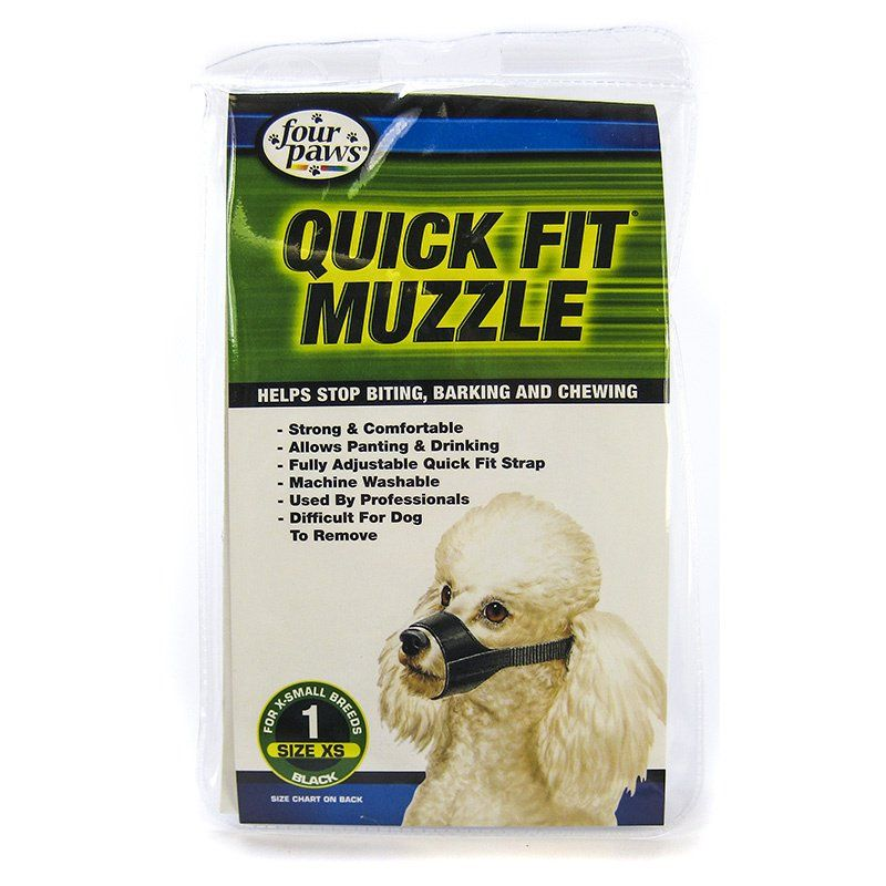 "Four Paws Quick Fit Muzzle Siize 1 - Fits 5"" Snout"