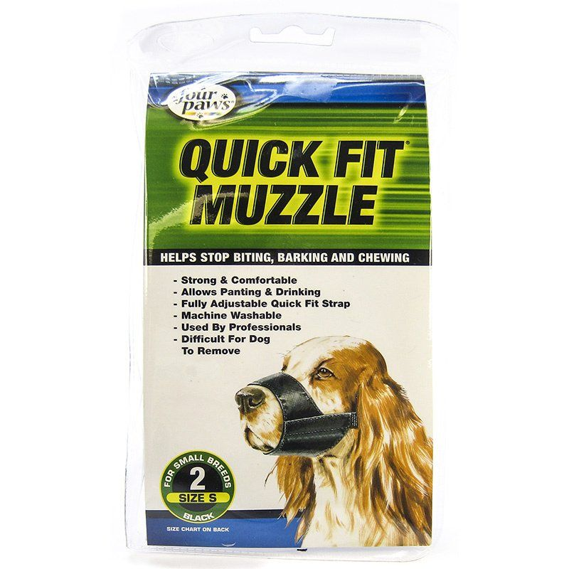 "Four Paws Quick Fit Muzzle Size 2 - Fits 5.5"" Snout"