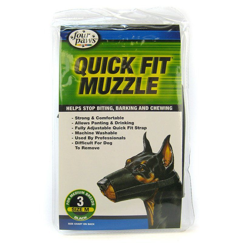 "Four Paws Quick Fit Muzzle Size 3 - Fits 6"" Snout"