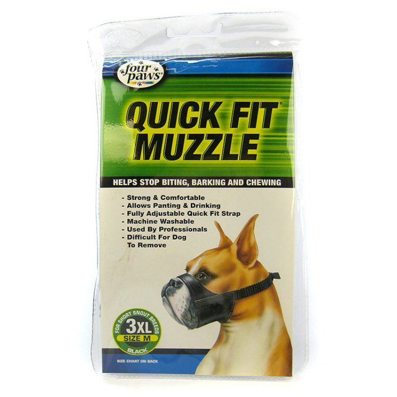 "Four Paws Quick Fit Muzzle Size 3XL - Fits 10.5"" Snout"