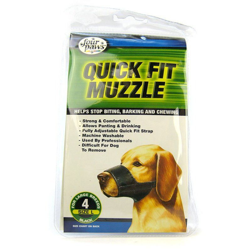 "Four Paws Quick Fit Muzzle Size 4 - Fits 8"" Snout"