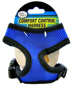 "Four Paws Comfort Control Harness - Blue X-Small - For Dogs 3-4 lbs (11""-13"" Chest & 7""-8"" Neck) - All Pets Store"