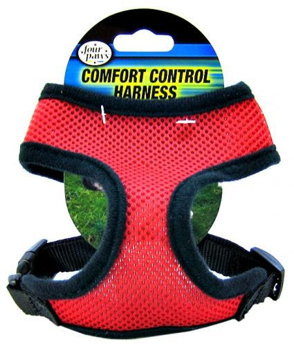 Four Paws Comfort Control Harness - Red Small - For Dogs 5-7 lbs (14