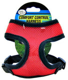 "Four Paws Comfort Control Harness - Red Small - For Dogs 5-7 lbs (14""-16"" Chest & 8""-10"" Neck) - All Pets Store"