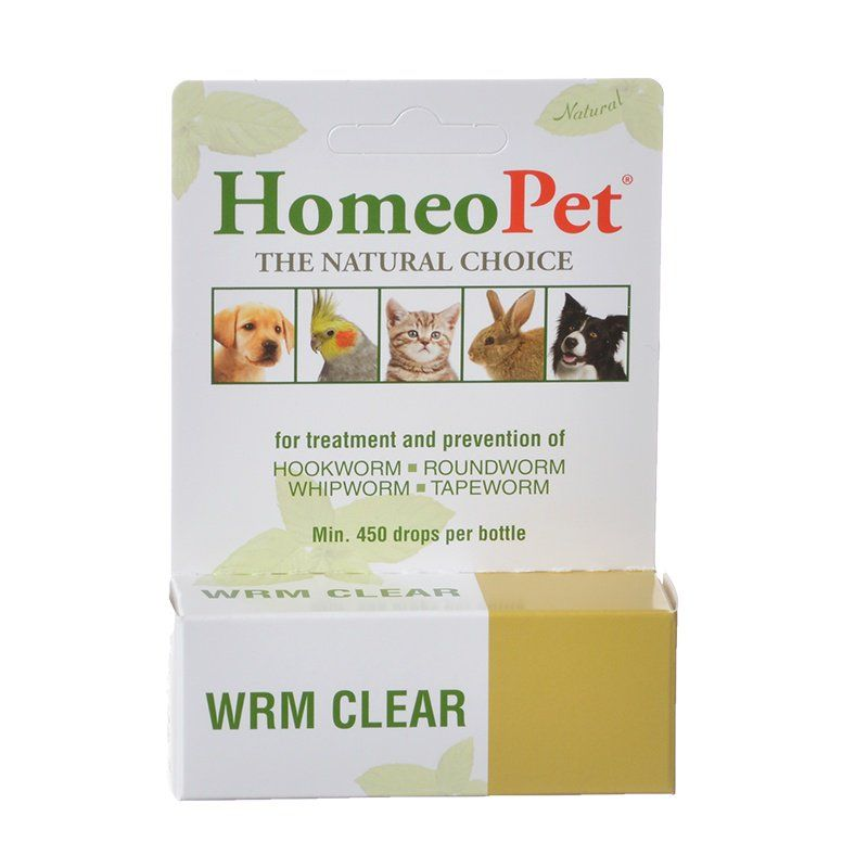 HomeoPet Wrm Clear for Dogs & Cats Worm Clear - 15 ml - All Pets Store