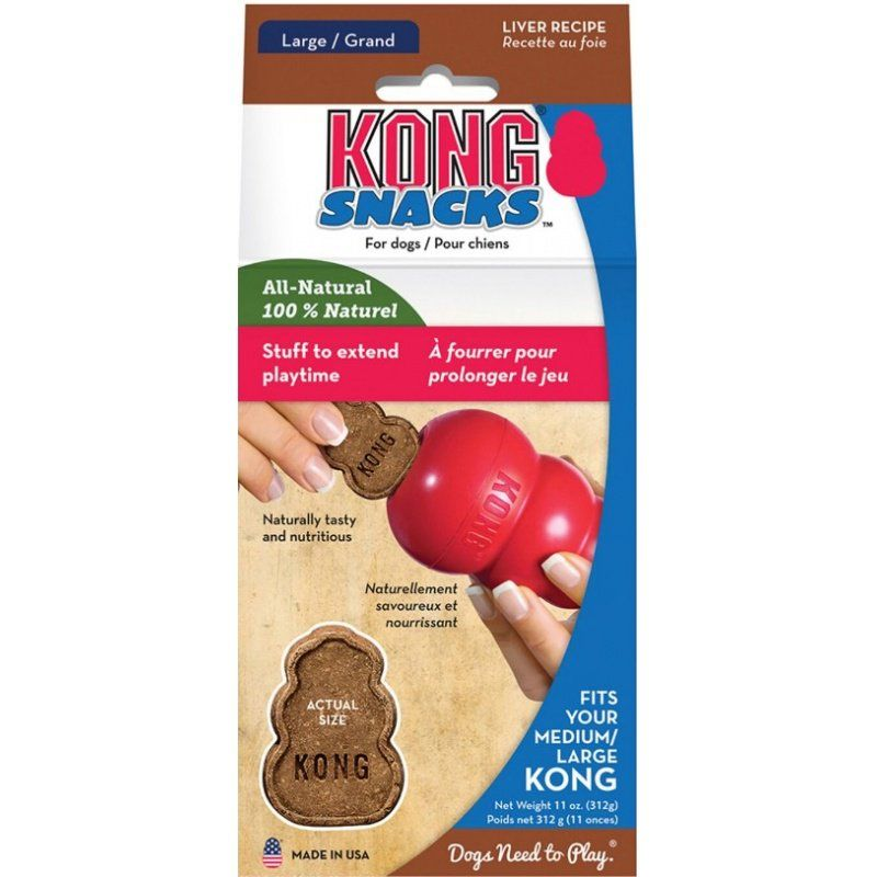 Kong Stuff'n Snacks - Liver Recipe Large - 11 oz - All Pets Store