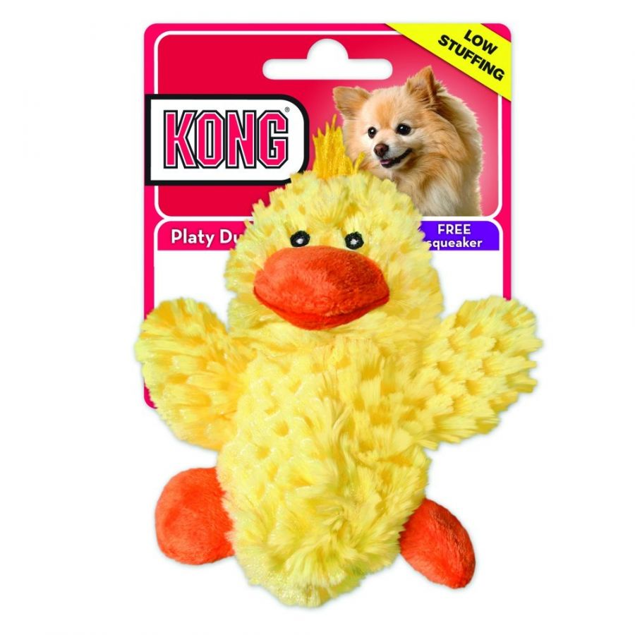 Kong Plush Platy Duck Dog toy Small - 5