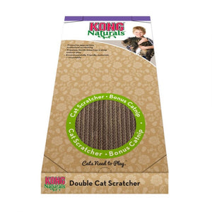 "Kong Double Wide Cardboard Cat Scratcher 20""L x 9""W x 1.5""H"