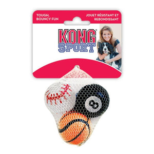 "Kong Assorted Sports Balls Set X-Small - 1.5"" Diameter (3 Pack) - All Pets Store"