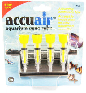 JW Fusion Accuair 4 Way Aquarium Gang Valve 4 Way Gang Valve - All Pets Store