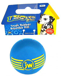 "JW Pet iSqueak Ball - Rubber Dog Toy Small - 2"" Diameter - All Pets Store"