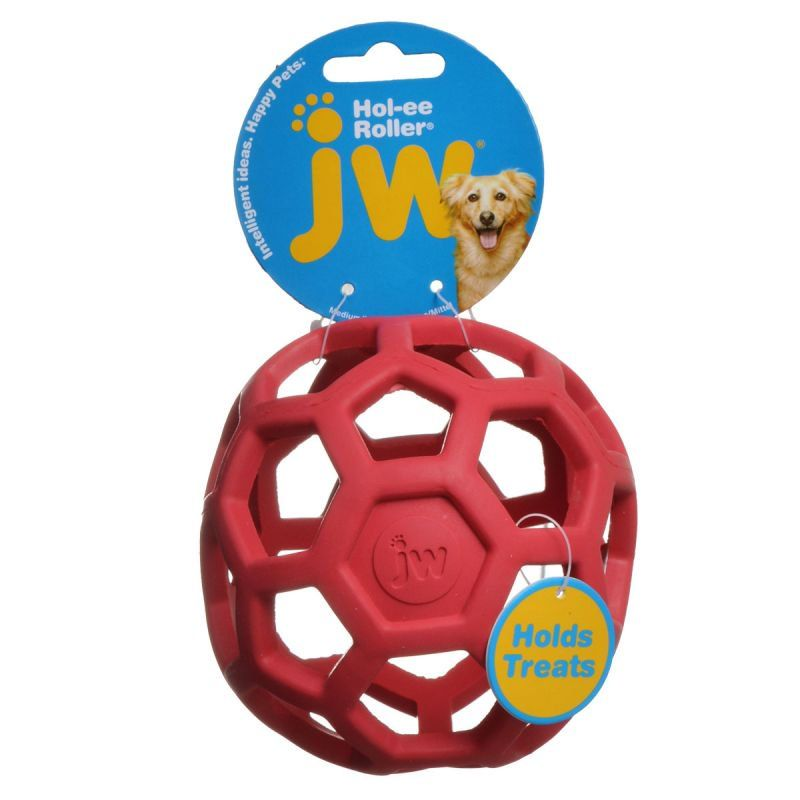 "JW Pet Hol-ee Roller Rubber Dog Toy - Assorted Medium (5"" Diameter - 1 Toy) - All Pets Store"